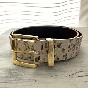 Michael Kors off white and gold belt
